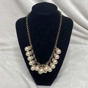 J. Crew Pearl and Rhinestone Necklace